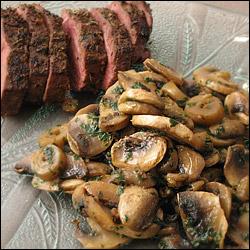 Recettes de champignons de paris frais a l 39 ail et au persil - Comment cuisiner les champignons frais ...