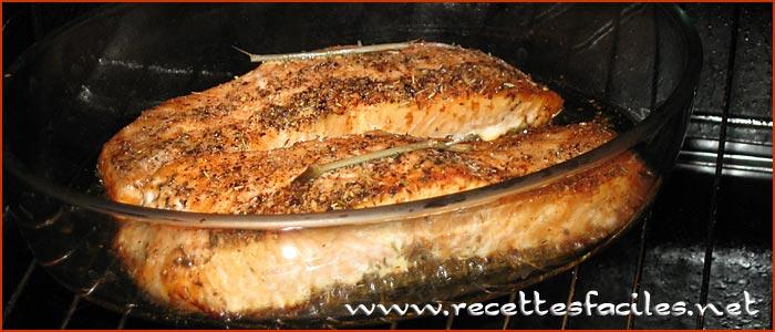 Pav de saumon roti au four recette saine simple et rapide - Cuisiner du saumon au four ...