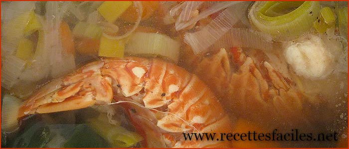 Queues de langoustes au court bouillon - Queues de langoustes grillees au four ...